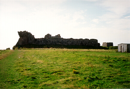 Outer bailey wall